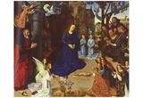 Hugo van der Goes (Portinari-Altar, middle panel, scene: Adoration of the Shepherds) Art Poster Pri Prints