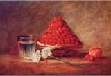 Jean-Baptiste Simeon Chardin (Strawberry basket) Art Poster Print Masterprint
