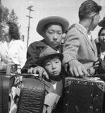 Japanese-American Internment Center (Young Evacuees) Art Poster Print Masterprint