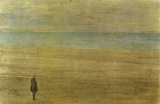 James Abbot McNeill Whistler (Harmony in Blue and Silver: Trouville) Art Poster Print Masterprint