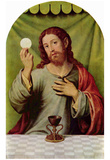 Juan de Juanes (Christ the Eucharist) Art Poster Print Posters