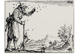 "Jacques Callot (Follow 'The capriccios ""The farmer and the bees swarm) Art Poster Print Prints"
