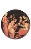 Jacopo Pontormo (Birth of John the Baptist, Tondo) Art Poster Print Masterprint