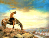 Indian End Of The Trail  3 Art Print POSTER lithograph Poster