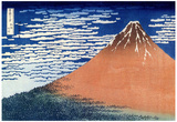Katsushika Hokusai (Clear Weather Mount Fuji) Art Poster Print Posters
