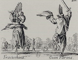 "Jacques Callot (Follow the ""Balli di Sfessania"" Fracischina and Gian Farina) Art Poster Print Masterprint"