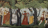 Indian Painting around 1770 (Radha Krishna arrested) Art Poster Print Masterprint