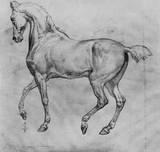 Julius Carolsfeld by Schnorr (Trabendes horse) Art Poster Print Masterprint