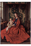 Jan van Eyck (Madonna with the child read) Art Poster Print Posters