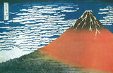Katsushika Hokusai (Clear Weather Mount Fuji) Art Poster Print Masterprint