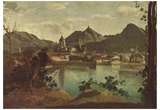 Jean-Baptiste-Camille Corot (City and Lake Como) Art Poster Print Posters