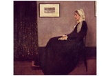 James Abbot McNeill Whistler (Arrangement in black and gray,.I: The mother of the artist) Art Poste Posters