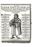 Johann Meder (Written memorial for Martin Luther) Art Poster Print Plakater