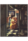 Jan Vermeer van Delft (The love letter) Art Poster Print Posters