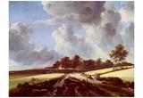 Jacob Isaaksz. van Ruisdael (Wheat fields) Art Poster Print Print