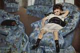 Mary Cassatt (Little girl in blue armchair) Art Poster Print Masterprint