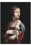 Leonardo Da Vinci (Cecilia Gallerani) Art Poster Print Poster