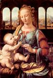 Leonardo Da Vinci (Virgin Mary and Child) Art Poster Print Masterprint