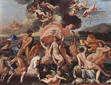 Nicolas Poussin (The triumph of Neptune (The Baccanal Richelieu)) Art Poster Print Masterprint