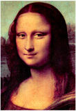 Leonardo da Vinci (Mona Lisa (La Giaconda), Detail: face of the Mona Lisa) Art Poster Print Posters