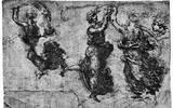 Leonardo da Vinci (Dancing nymphs) Art Poster Print Masterprint