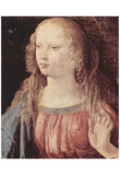 Leonardo da Vinci (Annunciation to Mary detail: Virgin of the Annunciation) Art Poster Print Posters