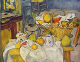 Paul Cezanne (Still Life with Fruit Basket) Art Poster Print Masterprint