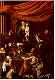 Michelangelo Caravaggio (Rosary Madonna) Art Poster Print Posters