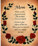 Mom poem Art Print POSTER Biggest Mothers Day Card! Masterprint