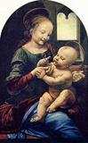 Leonardo da Vinci (Benois Madonna) Art Poster Print Masterprint