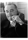 Lyndon B Johnson (On Phone) Art Poster Print Posters