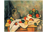 Paul Cezanne (Still lifes, drapery, Jug and Fruit Bowl) Art Poster Print Print