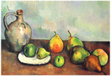 Paul Cezanne (Still Life, Fruit and Jug) Art Poster Print Posters