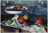 Paul Cezanne (Still Life with Fruit Bowl) Art Poster Print Posters