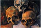 Paul Cezanne (Still lifes, skull pyramid) Art Poster Print Obrazy