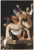 Michelangelo Caravaggio (Entombment of Christ) Art Poster Print Poster