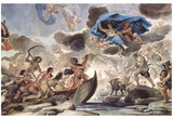 Luca Giordano (Frescoes in the gallery of the Palazzo Medici-Riccardi in Florence, Scene: The bark Prints
