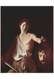 Michelangelo Caravaggio (David with the head Goliaths) Art Poster Print Photo