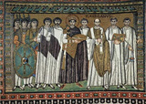 Master of San Vitale in Ravenna (Choir mosaics at San Vitale in Ravenna, Scene: Kaiser Justinian an Masterprint