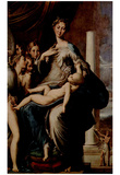 Parmigianino (Madonna with the long neck) Art Poster Print Prints