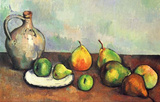 Paul Cezanne (Still Life, Fruit and Jug) Art Poster Print Masterprint