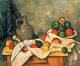 Paul Cezanne (Still lifes, drapery, Jug and Fruit Bowl) Art Poster Print Masterprint