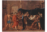 Nicolas Poussin (The Death of Germanicus) Art Poster Print Prints