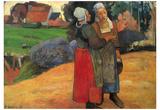 Paul Gauguin (Breton farmers) Art Poster Print Posters