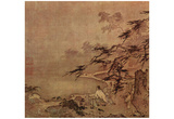Ma Yuan (Scholar with a servant on a terrace) Art Poster Print Posters