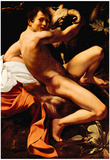 Michelangelo Caravaggio (St. John the Baptist) Art Poster Print Posters
