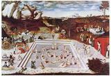 Lucas Cranach (The fountain of youth) Art Poster Print Posters