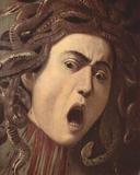 Michelangelo Caravaggio (The head of the Medusa, Tondo, Detail) Art Poster Print Masterprint