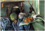 Paul Cezanne (Still Life with Eggplant) Art Poster Print Prints