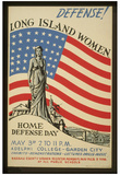 Long Island Women (Home Defense Day) Art Poster Print Prints